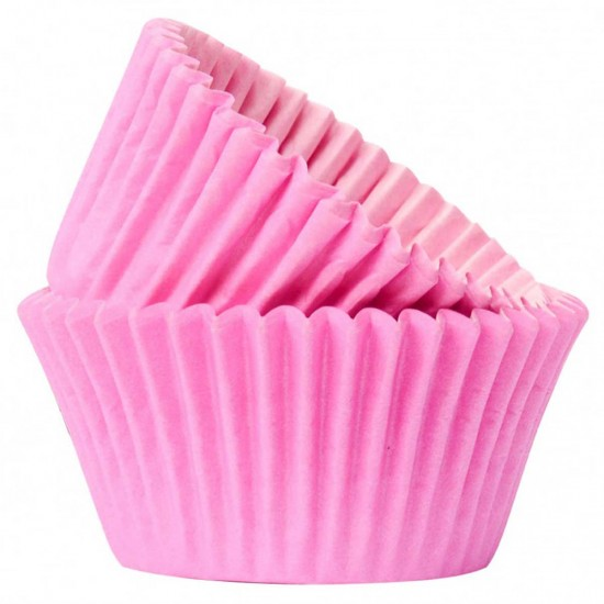 Muffin Paper Cases Pink x50