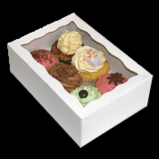 Cupcake Box 6 White