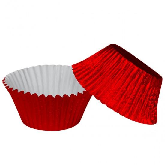 Muffin Cupcake Cases Foil Red x 45