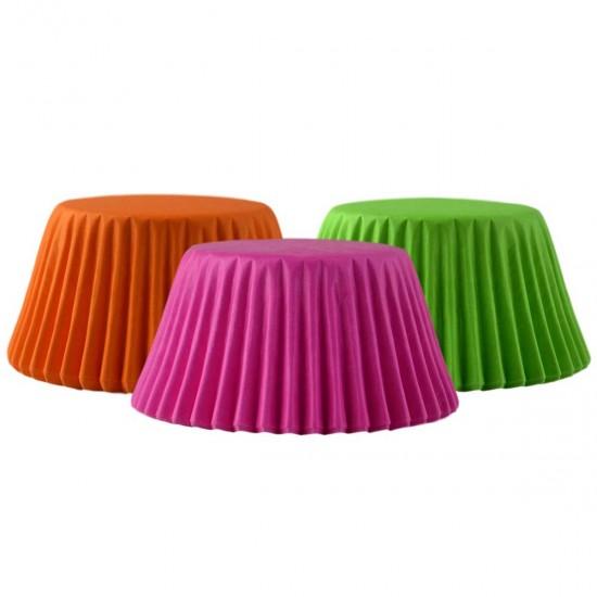 Muffin Paper Cases Neon x75