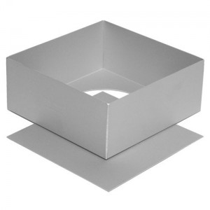 Alan Silverwood 10-inch Square - Satin Anodised Loose Base Cake Tin