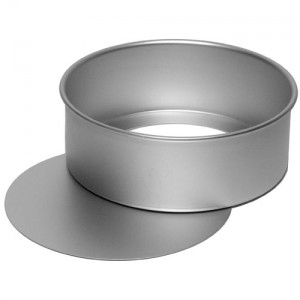 Alan Silverwood 10-inch Round - Satin Anodised Loose Base Cake Tin