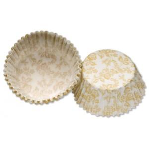 Petit Four Paper Cases Ivory/White Floral x100