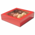 Cupcake Box Red (holds 12) with insert