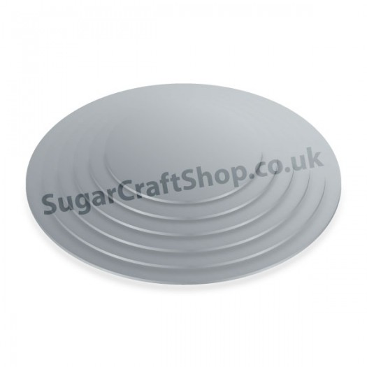 Cake Board 4mm Silver Round 12-inch