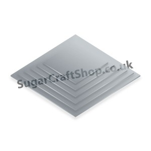 Cake Board 4mm Silver Square 12-inch
