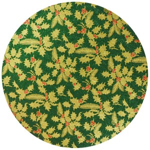 Christmas Drum Round 10-inch Green Holly