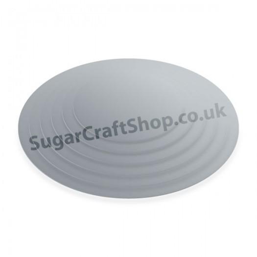 Cake Board Cut Card Silver Round 4-inch