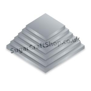 Drum Square 08-inch Silver