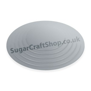 Cake Board Single Thick Silver Round 10-inch