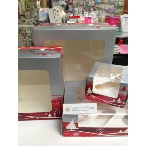 "Christmas Window Cake Box 10"" (10x10x5-inch)"