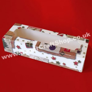 Mince Pies/Biscuits/Chocolates Christmas Box - 9.5x3.5x2-inch