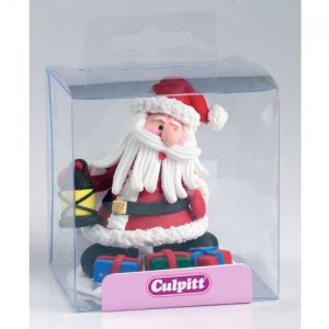 Claydough Father Christmas with Lantern