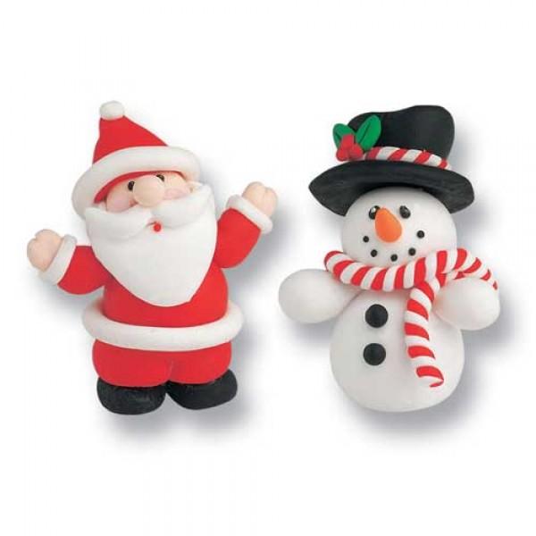 Claydough Santa and Snowman