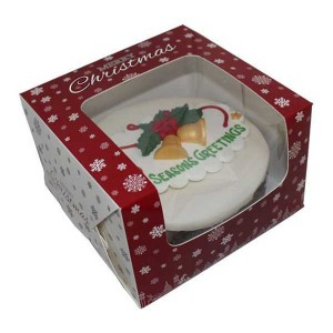 "Christmas Window Cake Box 6"" (6x6x4-inch)"