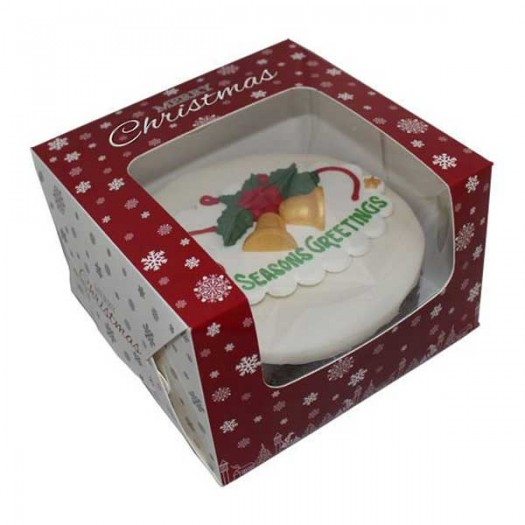 "Christmas Window Cake Box 8"" (8x8x5-inch)"
