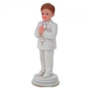 Topper Praying Boy Standing 10cm