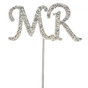 Diamante letters MR