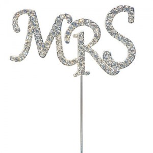 Diamante letters MRS