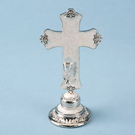 Topper Pearlised Cross 9cm