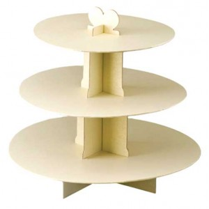 3-Tier Cake Stand Ivory - Club Green MAV01IV