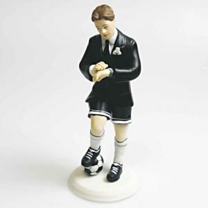 Soccer Player Groom Cake Topper 145mm