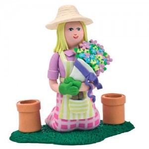 Claydough Gardener Lady - Culpitt CD0024