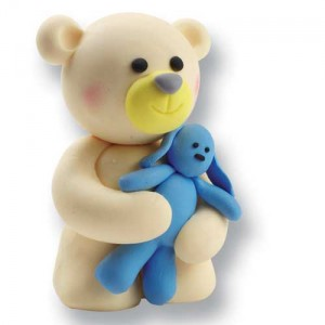 Claydough Teddy and Rabbit Blue