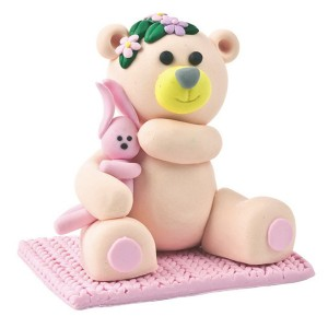 Claydough Teddy and Rabbit Pink