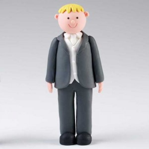 Claydough Blonde Hair Groom Standing