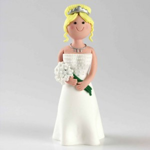 Claydough Blonde Hair Bride Standing