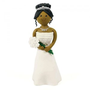Claydough Dark Skin Bride Standing