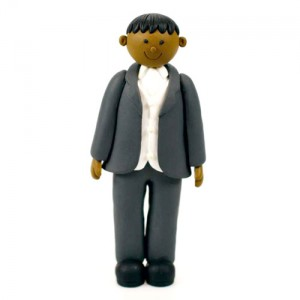 Claydough Dark Skin Groom Standing