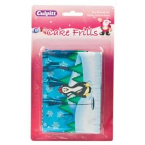 Christmas Cake Frill Penguin