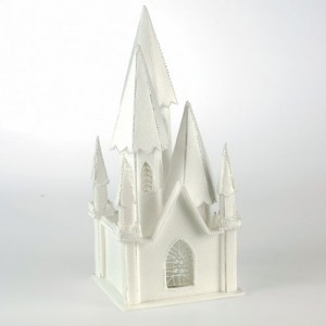 Styrofoam Illuminating Church - 135mm x 135mm x 300mm