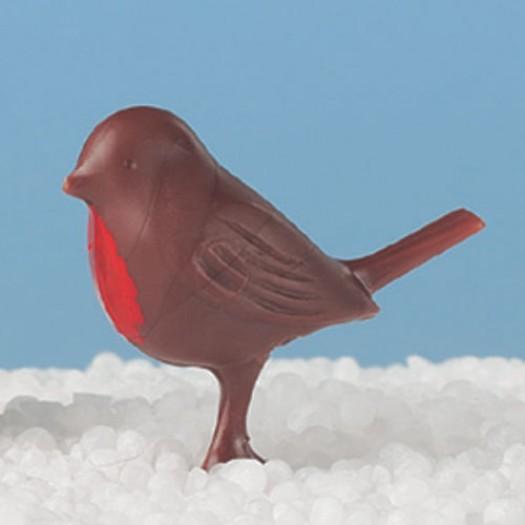 Christmas Robin Red Breast Dark Brown 25mm
