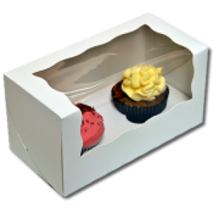 Cupcake Box (holds 2) with insert