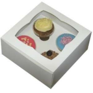 Cupcake Box (holds 4) with insert