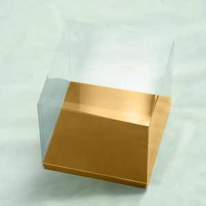 Cupcake Box 10cm with Gold Insert - Pack of 10