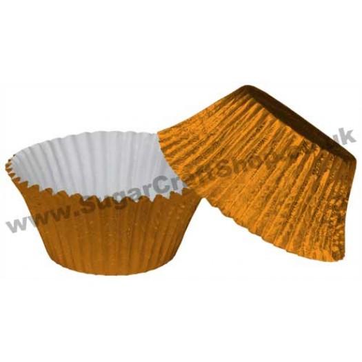 Muffin Cupcake Cases Foil 50 -  Orange
