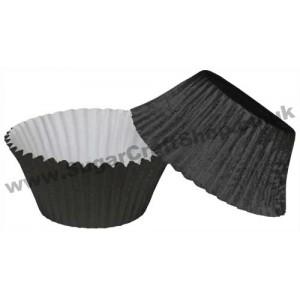 Muffin Cupcake Cases Foil 50 -  Black