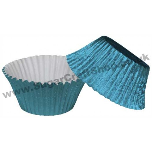 Muffin Cupcake Cases Foil 50 -  Baby Blue