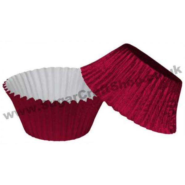 Muffin Cupcake Cases Foil 50 Burgundy