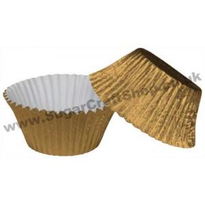 Muffin Cupcake Cases Foil 50 -  Gold