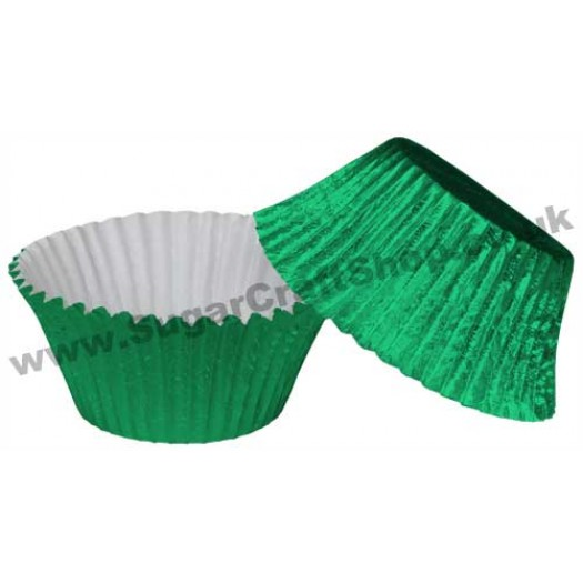 Muffin Cupcake Cases Foil 50 -  Green