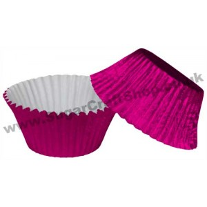 Muffin Cupcake Cases Foil 50 -  Cerise/Hot Pink