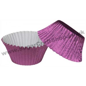 Muffin Cupcake Cases Foil 50 -  Mauve Pink