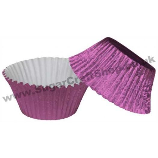 Muffin Cupcake Cases Foil 50 -  Mauve Pink