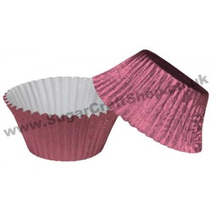 Muffin Cupcake Cases Foil 50 -  Pale Pink