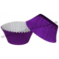 Muffin Cupcake Cases Foil 50 -  Purple